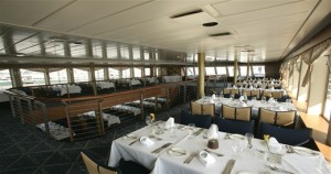 Dine in luxury and get a unique view of the Manhattan skyline.