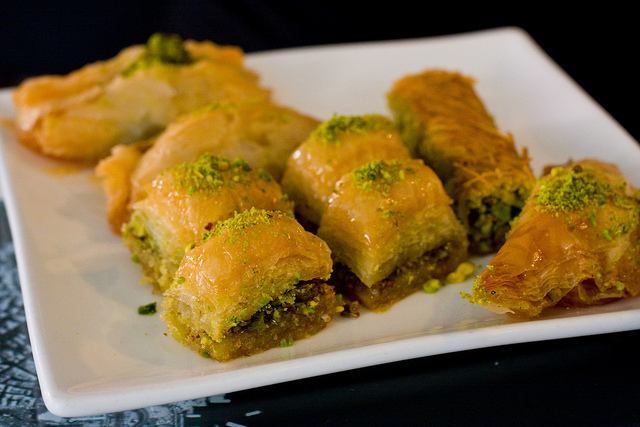 plate of baklava mix
