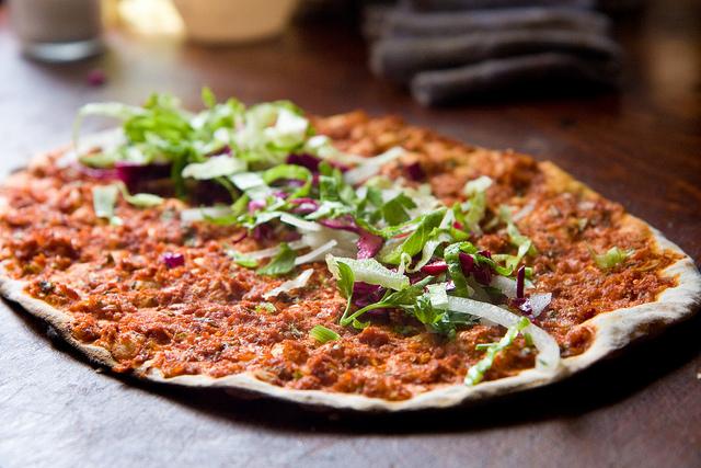 Flat Turkish 'pizza'