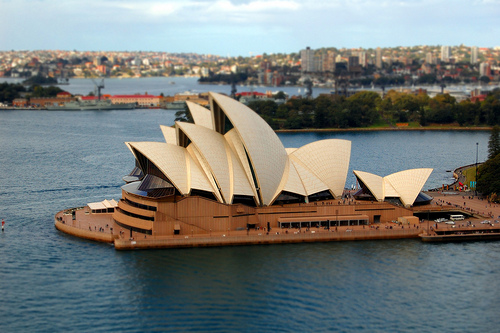Sydney opera house in the harbour
