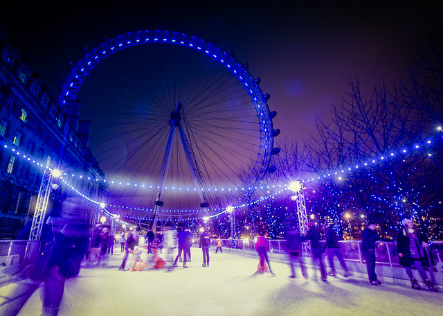 london eye ice skating