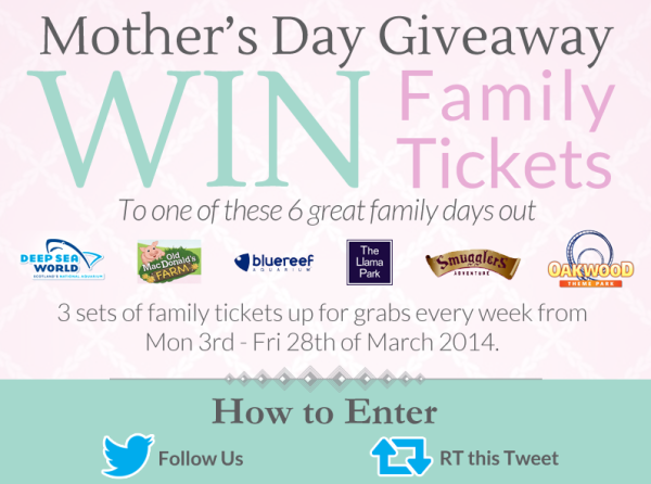 Twitter giveaway for Mother's Day
