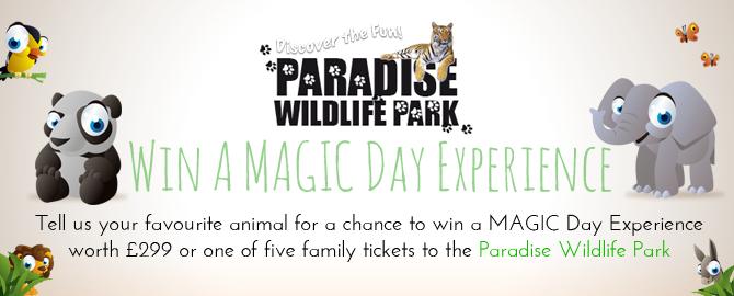 Paradise Wildlife Park Win Tickets