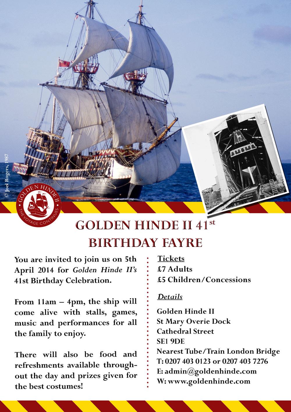 Golden Hinde II 41st Birthday