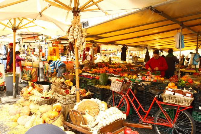 Mercato di Campo de Fiori - Flickr: g e n e v i e v e
