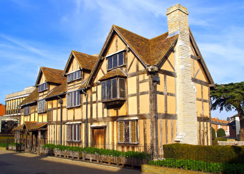 The Stratford shakespeares birthplace in England