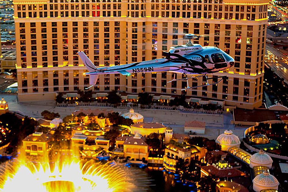 Las Vegas Strip Night Flight by Helicopter