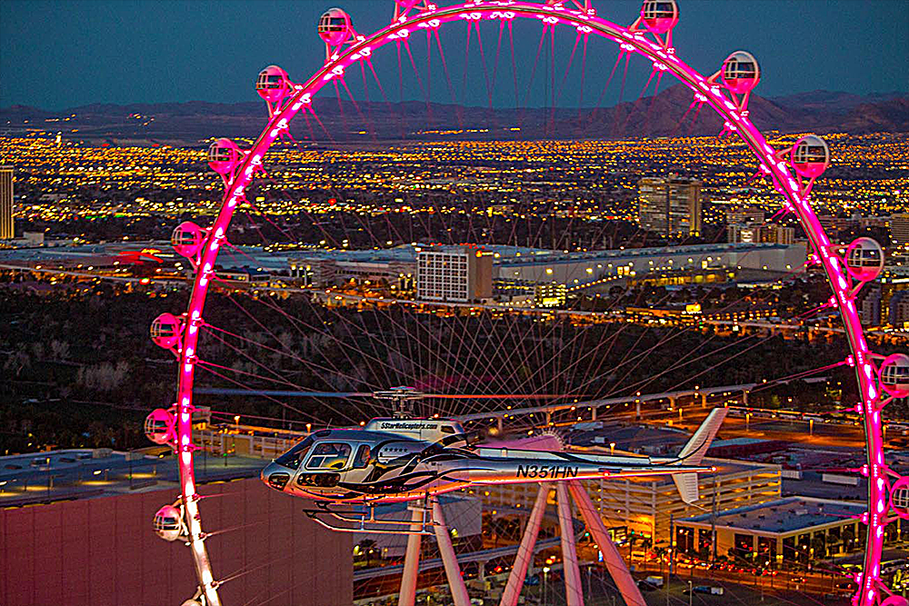 Las Vegas Strip Night Flight by Helicopter with Dining Experience