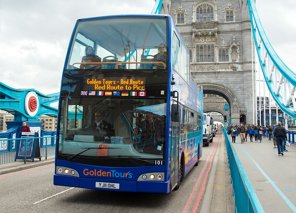 24 hours Hop On Hop Off Bus Tour – with EXTRA 24 hours FREE  - Golden Tours