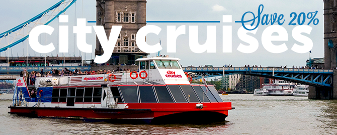 Westminster Cruise - City Cruises Voucher
