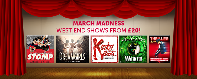 Theatre tickets from £20