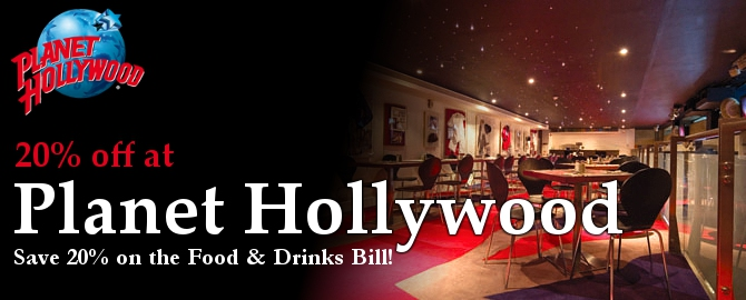 Planet Hollywood London Voucher